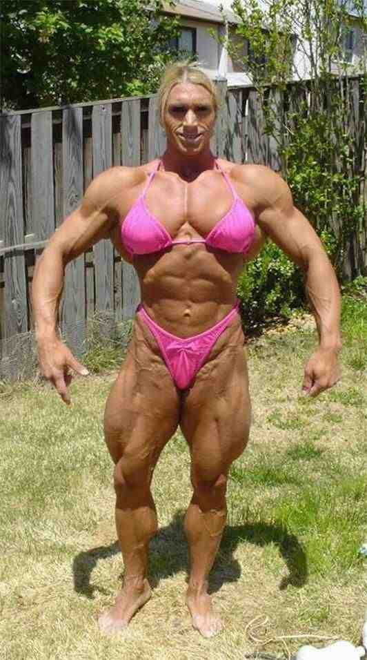How about this super muscled girl? What do you think? Should we all be